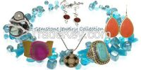 Wholesale Semi Precious Stone Jewelry and Wholesale Natural Genuine Stone Jewellery earring, necklaces, pendants, rings, jewelry sets