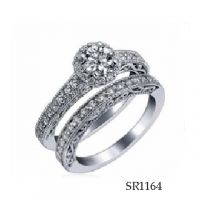 925 Silver Women Finger Ring Elegant Engagement Ring Setting AAA Cubic Zirconia