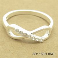 Sterling Silver Women Finger Ring 8 Shape Setting AAA Cubic Ziconia Fast Delivery