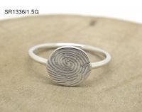 925 Silver Women Finger Ring Fngerprint Round Shape Facotry Directly Good Quality