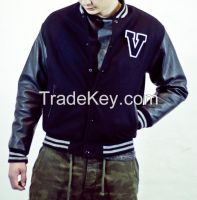 Custom Cheap Unisex Wool Leather Varsity Jacket Letterman Jacket Baseball Jacket for School and Colleges Students