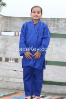 Blue karate uniforms for kids, Blue Karate suits for girls
