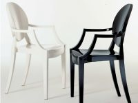 modern dining chair -ghost chair