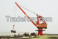 Stationary slewing crane