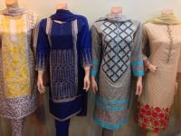 embroidered stitched 3pcc suits at wholesale rate by Sofarahino