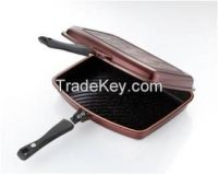 Double pan w/silicone seal and magnetic handle