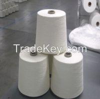 100% polyester spun yarn 30/1 in raw white