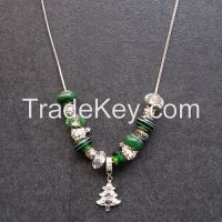 Crystal beads necklace and bracelet jewelry sets