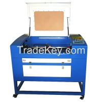 Cheap 50W CO2 wood, acrylic, rubber, bamboo, plastic laser engraver cutter  with coreleaser