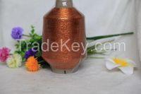 High quality double-covered Metallic thread/ lurex metallic yarn