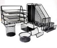 Metal Mesh Desk Organizer Set 7 Pieces