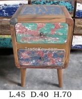 Nightstand, Bedside Tabel - Recycled Furniture -Boat Furniture-Special Design