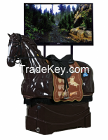 Exciting horseback riding sports.