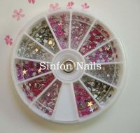 Sell Pearl rhinestone,3D flower&glitter powder,glitter,crush shell