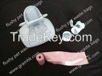 pva water soluble flushy pet waste bag
