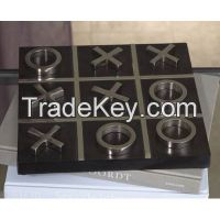 Metal & wood Tic Tac Toe Set