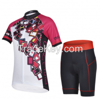 OEM high quality women cycling jersey/cycling wear with breathable