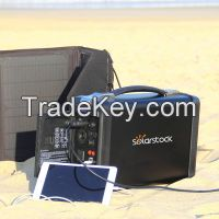 Portable solar power system 500w for home and outdoor use
