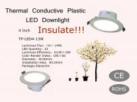 LED Downlight 4 Inch Thermal Conductive Plastic cover Aluminum 220V 50Hz