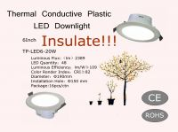 Hot sell 6 Inch Thermal Conductive Plastic LED Downlight