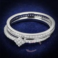Sell Jewelry Wholesale 925 Sterling Silver AAA Grade CZ Wedding Ring Sets
