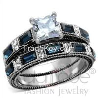 Sell 2015 Beautiful Stainless Steel CZ Wedding Ring Sets