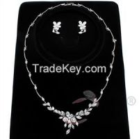Sell 2015 Holiday Party Necklace and Earrings Rhodium Jewelry