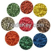 EPDM Rubber Crumbs, Colorful EPDM Rubber Granules, Rubber Powder/Rubber Crumbs
