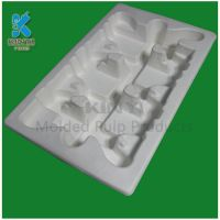 Eco-friendly sturdy recyclable molded pulp thermoform tray
