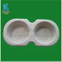 Natural degradable sugar cane bagasse pulp cake paper mold tray