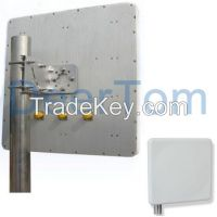 2400-2500MHz 2400-2483MHz 2.4GHz 2.4G Indoor Outdoor Directional MIMO Patch Panel Antenna with 3 connectors 15dBi High Gain WIFI Repeater antenna