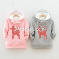 2015 new style fashionable 100% cotton children's coats children hoodies sweatshirts  wholesale children clothings  kid's clothing factory china