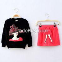 2015 hot sale!! new style autumn cotton children apparel  wholesale children clothing for 3-9 years