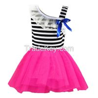 new design hot-selling 100%cotton strip  baby skirts  children clothing factory china