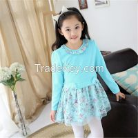 2015 hot sale new design children clothes girl spring dresses  wholesale clothing