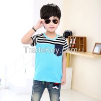 2015 newest  style stripe  boys t-shirts cotton t-shirts for summer wholesale children clothings