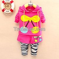 New design high quality girls cotton clothing sets wholesale new design children clothings