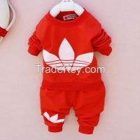 wholesale baby boy clothes new design girls clothes chilren clothing 100%cotton hoodies sweatshirts 2pcs set
