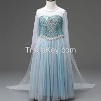 OEM baby clothes, clothing manufacturers in china for  girl frozen dresses  High Quality Children Clothing Factory
