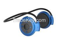Smallest wireless waterproof bluetooth neckband headset for sport Mini 503, wireless stereo bluetooth headphone for cellphone