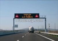 Single Chip 1R1W IP65 Speed Limit Led Display Traffic Signs Controlled by PC