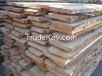 Freshly Cut Birch Lumber