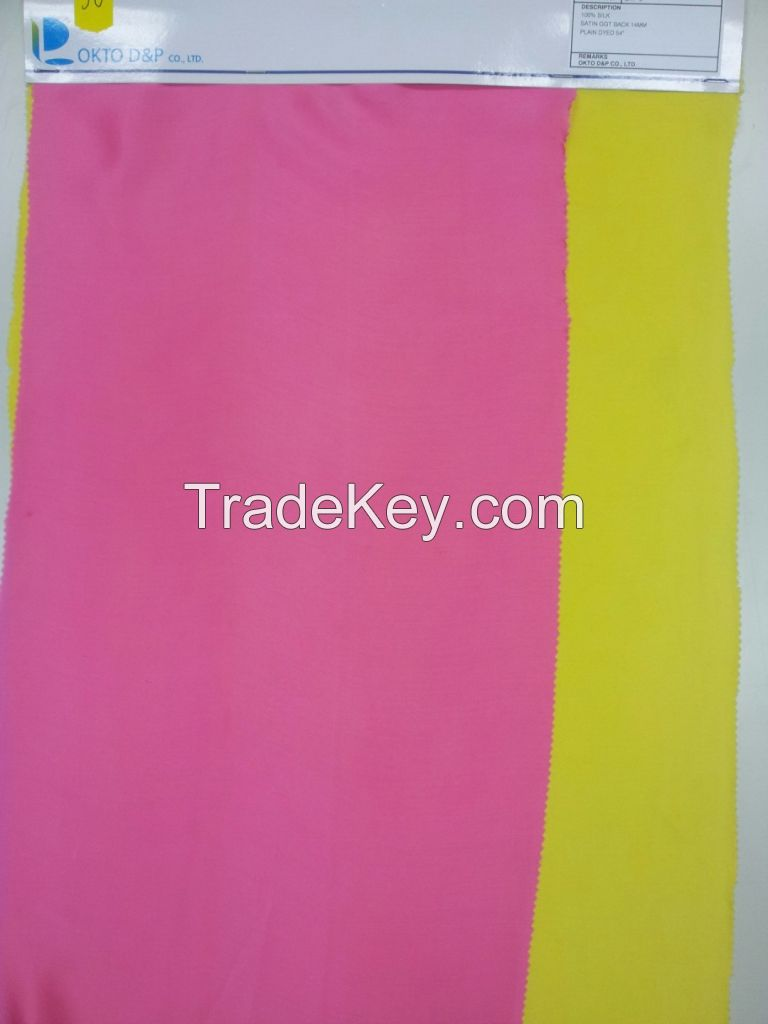 100% PURE SILK SATIN GGT 16MM DIGITAL PRINT and PLAIN DYED