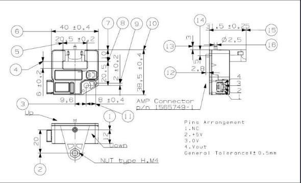 Open Loop Hall Effect Fuel Cell Current Control Sensor