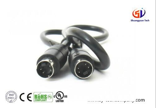 Customized 6 Pin S Video Cord Extension Cable for Car DVR / Camera / Monitor