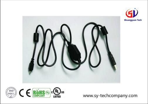 Fire Wire IEEE 1394 Cable with Two Ferrite Core