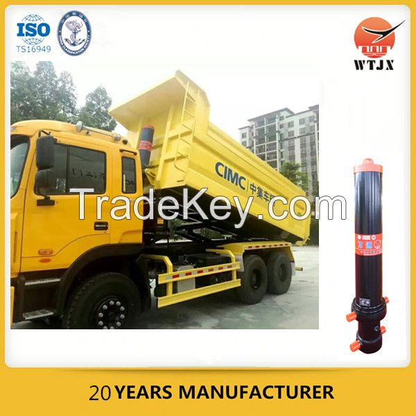 4 stage hydraulic cylinder for vehicle