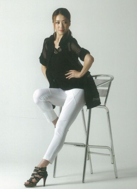 Women's short coat and trousers