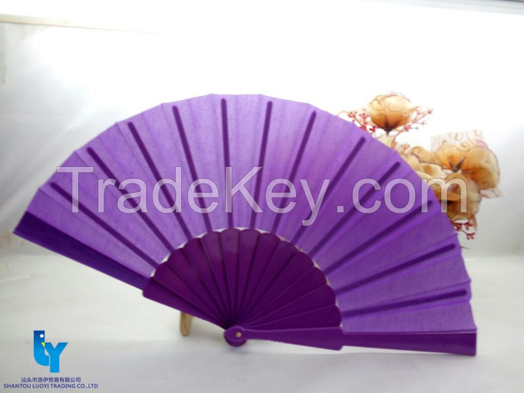High Quality Bamboo Fabric/Paper Fan with(Custom-Made)
