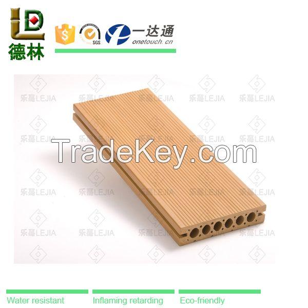 eco-friendly waterproof anti-slip indoor wpc floor wood plastic composite